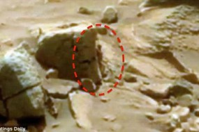 网友发现火星岩石后似躲藏矮小外星人