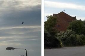 苏格兰惊现六爪UFO 天空盘旋15分钟