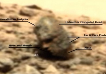 火星国王遗骸?火星惊现人形头骨引发网友猜测