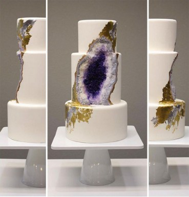 神秘水晶洞竟然能吃 蛋糕造型太眩酷