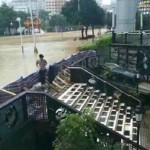 福州暴雨被淹 地下餐厅滴水未进爆红网络