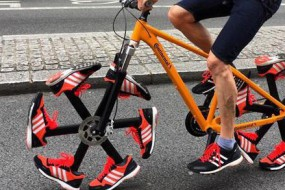 最魔性自行车 这样的轮胎真不硌得慌吗?