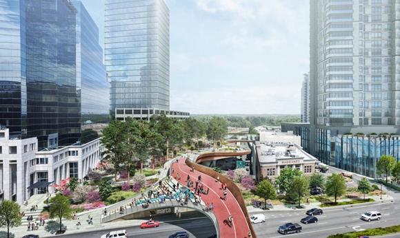 """亚特兰大要在铁路和高速路上面建""""漂浮""""公园"""