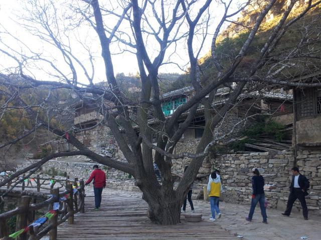 中国悬空村,村子悬在悬崖半空中,远望似空中楼阁
