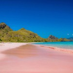 粉红色沙滩见过吗?太梦幻了