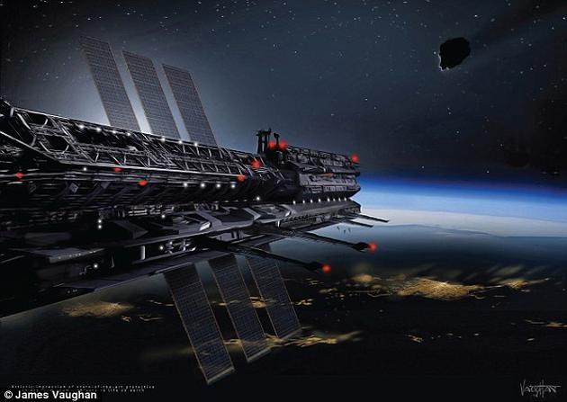 """""""太空国家""""听起来似乎是一个直接从科幻小说中拿出来的概念,但这也许很快就能成为现实。至少,一个国际科学家团队已经提出了相关计划。上图为艺术家的概念图。研究团队宣称,他们已经开始这个项目,并将其称为""""Asgardia"""",明年还将发射一颗卫星。-趣闻巴士"""