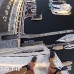 狂人玩命一跳从40米高空落水