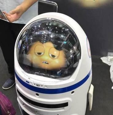 机器人小胖失控伤人 大闹高交会