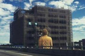 台湾一楼房正对大佛 网友:被佛祖注视压力大