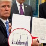特朗普签名似地震仪记录 体现个性好斗不守规