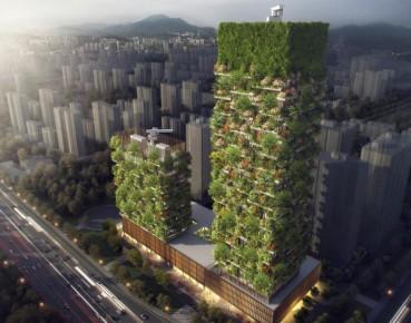 中国将建垂直森林 整幢大楼绿化变身天然造氧机