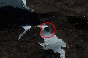 UFO追踪者发现南极神秘碟状物