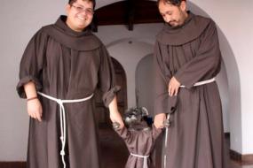 玻利维亚修道院收养流浪狗 穿道袍备受喜爱