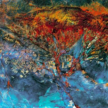 美卫星航拍   张张犹如抽象画