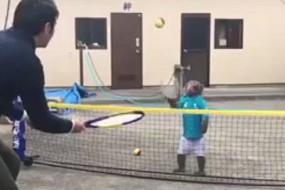 猴子极有运动天赋成网球明星