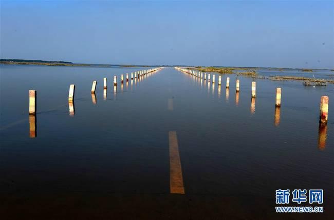 """这是7月21日拍摄的""""最美水上公路""""。-趣闻巴士"""