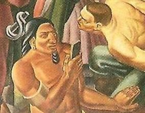 80年前壁画惊现美洲土著玩手机