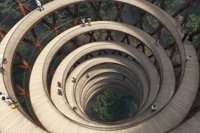 丹麦建螺旋观景高塔 可观赏森林树顶美景