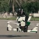 迪拜警察上天了 秀炫酷飞行摩托