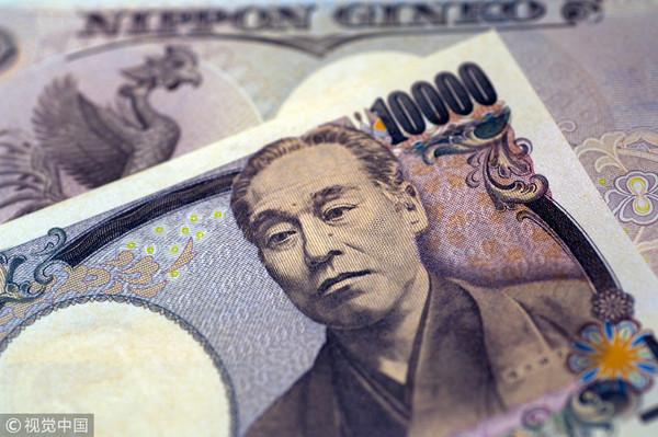 日圆,抢银行,银行,日币,钞票,外币。(图/视觉中国)