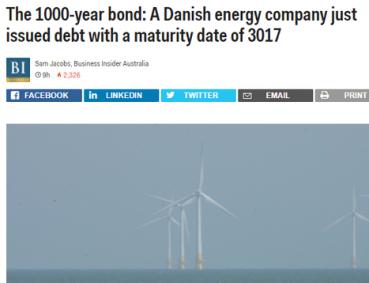 1000年后到期 丹麦千年债券大受欢迎