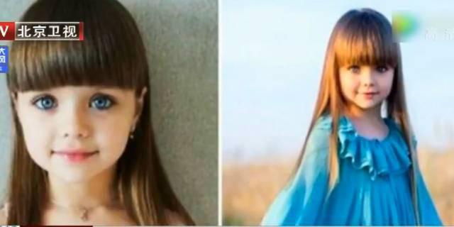 """女孩酷似洋娃娃 蓝眼棕发被称""""世上最美小女孩""""-趣闻巴士"""