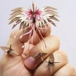 玩家用一千天折千纸鹤 每只都独一无二