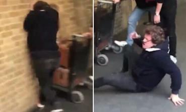 男子模仿哈利波特撞向魔法站台的墙