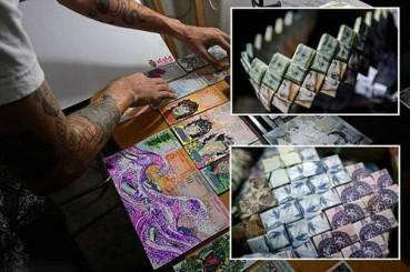 委内瑞拉货币大幅贬值 民众做成精美饰品出售