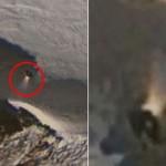 谷歌地图显示南极神秘物体发一束白光