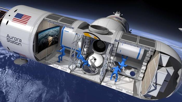太空酒店内部空间和一架湾流私人飞机大小相若。-趣闻巴士