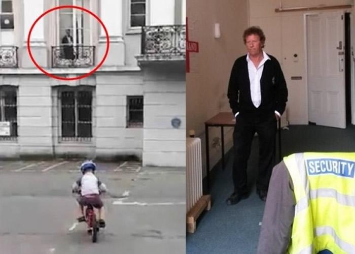 沃伦(红圈示及右图)澄清片中人是他,而非女鬼。-趣闻巴士