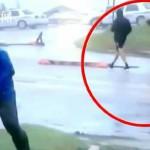 记者直播飓风动作夸张却被路人甲拆穿