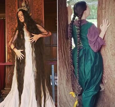 现实版长发公主头发长2米20年没洗头