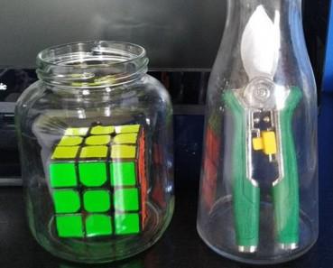 大东西放进小瓶子 怎么做到的?